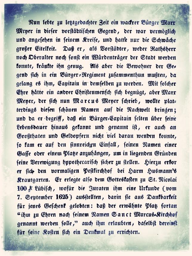 Auszug aus Otto Beneke HH Geschichten und Sagen