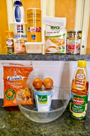 Ingredients for the Cornbread